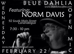 Poster for Blue Dahlia Open Mic